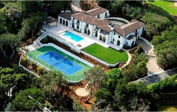 hacienda with tennis court