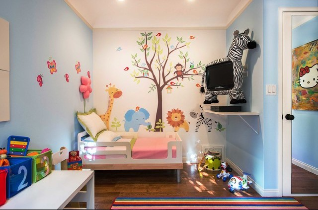 animal themed toddler girl bedrom