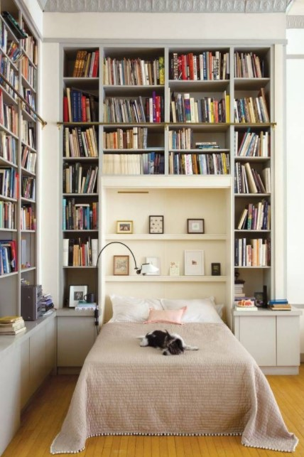 bedroom bookcase for woman