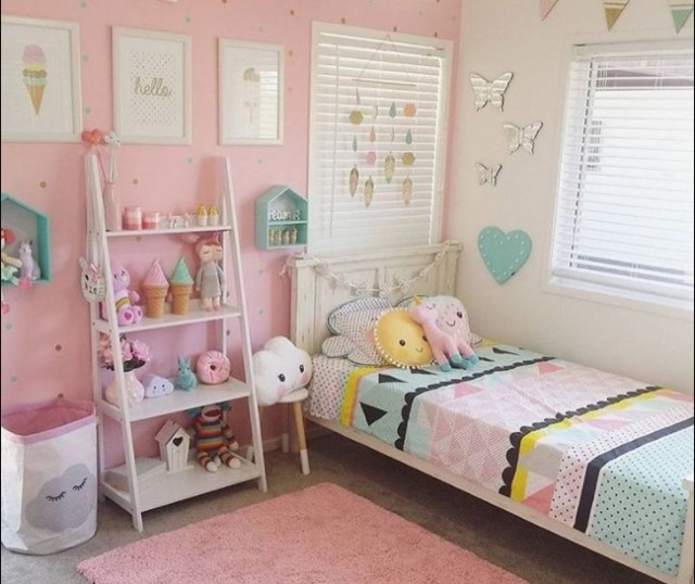 paper decoration for toddler girl bedroom