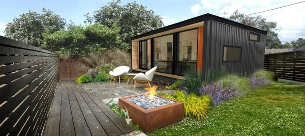 small yard in modular home