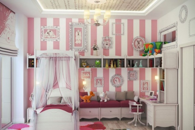 wallpaper for toddler girl bedroom