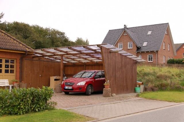 wooden carport design