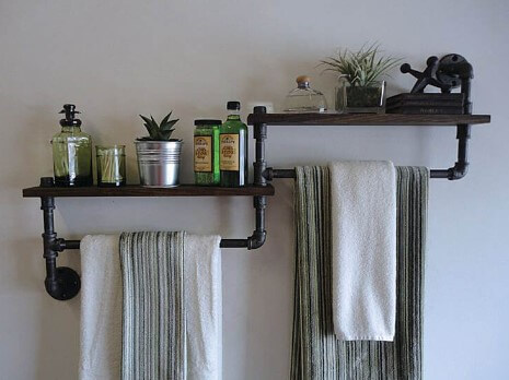 diy plumbing pipes for towel barf