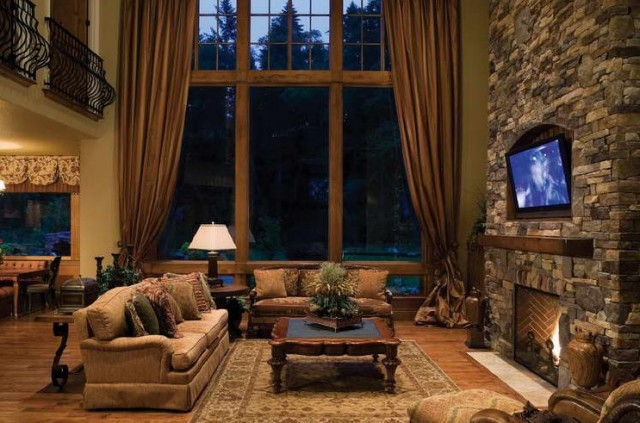 Window Treatments for Rustic Living Room