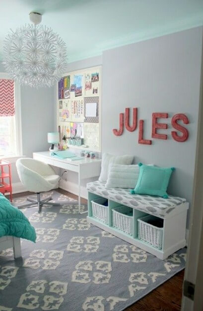 colorfull teen girl room