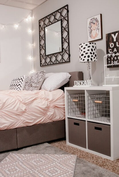 simple teen girl room