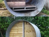 7. Cheap Upcycled Water Tank Chicken Coop