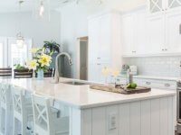 7. Pure White Kitchen Area Counter Tops