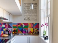 8. Colorfull Small Kitchen Remodel