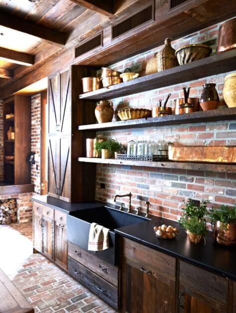 wood country kitchen