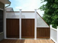 Tall deck railing
