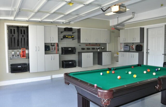 Garage Organization Plan with Pool Table