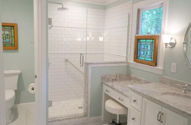 bathroom tile remodel after