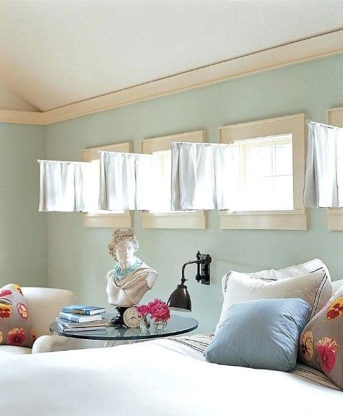 bedroom curtain for small windows