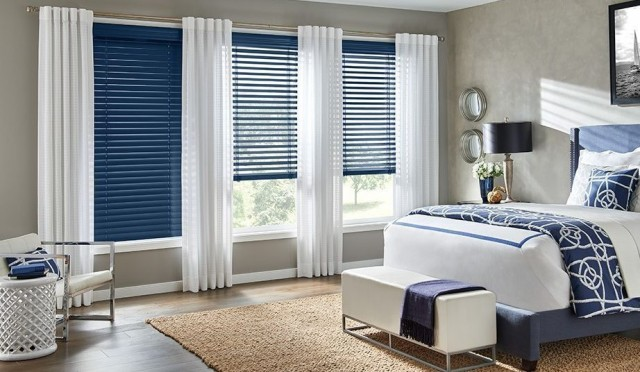 bedroom curtain with blinds