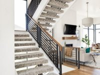 carpet for modern floating staircase