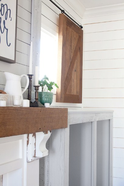 farmhouse sliding barn shutter