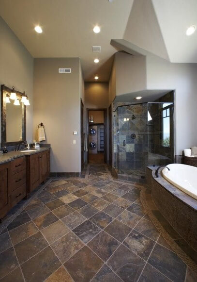 slate tile bathroom