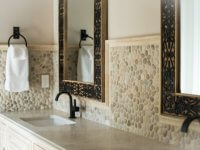 stone bathroom tile backsplash