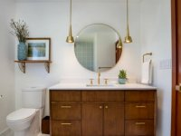 gold bathroom lighting decor