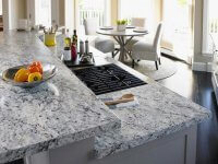 grey laminated kitchen countertop