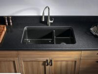 matte black countertops