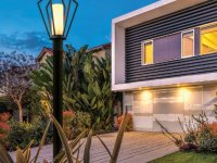 stylish outdoor post light